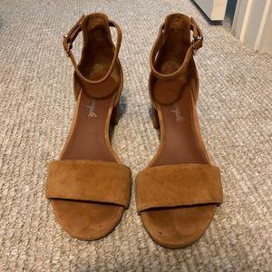 Free People Tan Short Heel Sandal Size 8